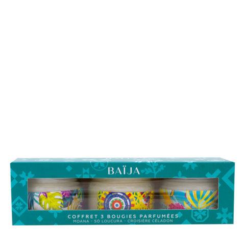 Baija Paris Caja Regalo con 3 Velas Perfumadas 3x50gr