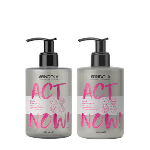 Indola Act Now Champù 300ml Y Acondicionador 300ml Pelo Teñido