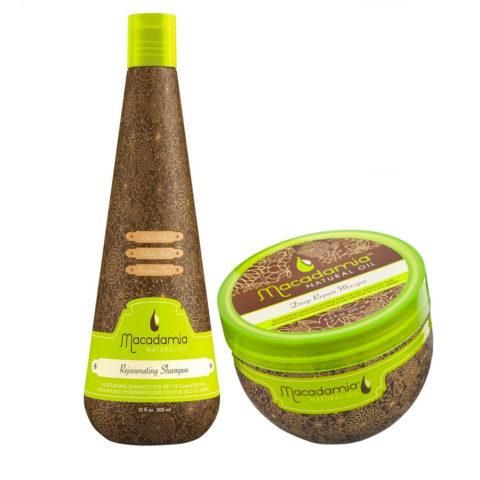 Macadamia Kit hidratante para cabello dañado 300ml Champú y 236ml Mascarilla