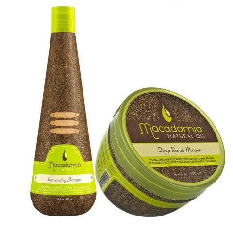 Macadamia Kit para Cabello Muy Dañado Champú 300ml y Mascarilla 470ml