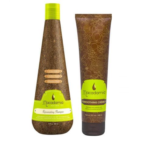 Macadamia Kit Hidratante para Cabello Seco Champú 300ml y Crema Anti-Frizz 148ml