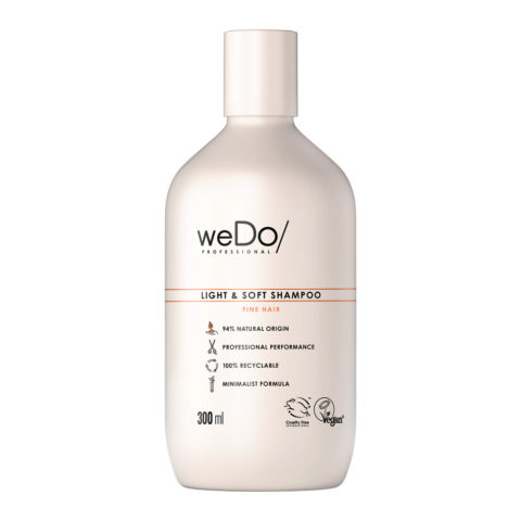 weDo Light & Soft Champú sin sulfatos para cabello fino 300ml