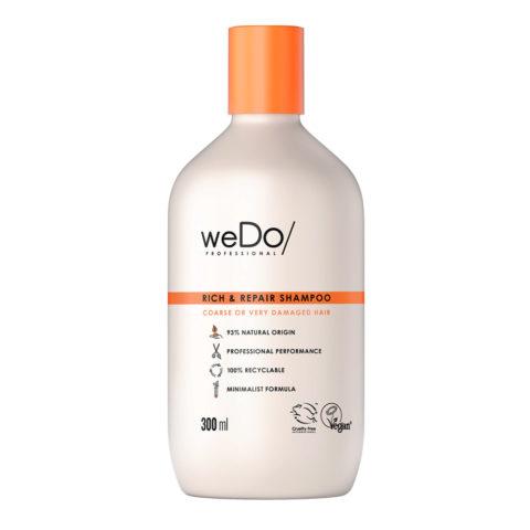 weDo Rich & Repair Champú sin sulfatos para cabello encrespado muy dañado 300ml