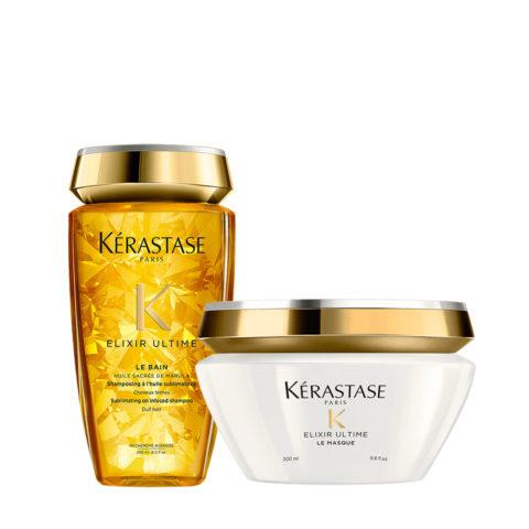 Kerastase Elixir Ultime Kit Hidratante Champù 250ml y Mascara 200ml