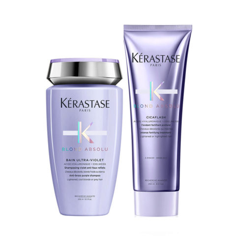 Kerastase Blond absolu Kit Champú Anti Amarillo 250ml Acondicionador 250ml