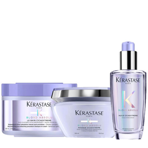 Kerastase Blond Absolu Set Aceite 100ml Cicaextreme Champù 250ml Mascarilla 200ml