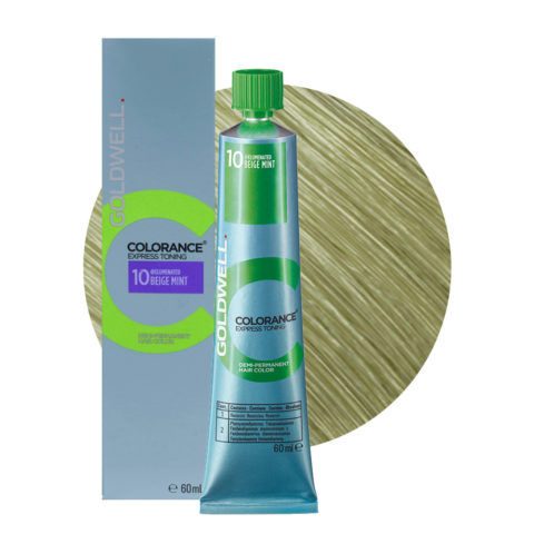 10 Beige Mint Goldwell Colorance Express Toning en Tubo 60ml