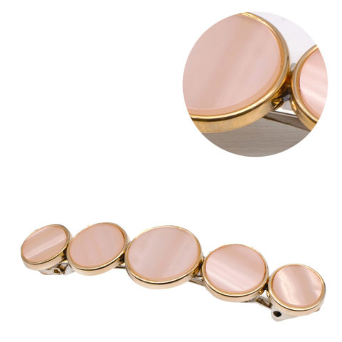 VIAHERMADA Pinzas para el cabello Matic Discos de piedra rosa