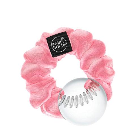 Invisibobble Sprunchie Lazo para el pelo vintage de terciopelo rosa pastel