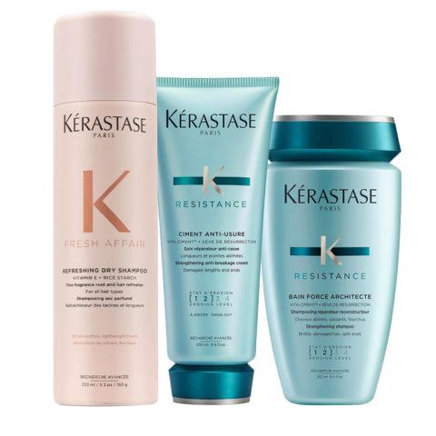 Kerastase Fresh Affair + Force Architecte Set para cabello dañado
