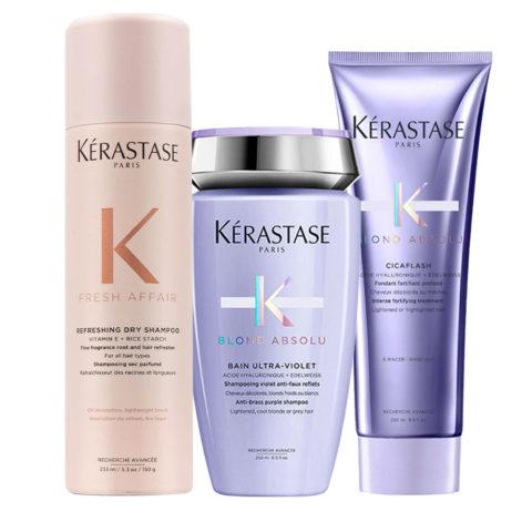 Kerastase Fresh Affair + Blond Absolu Set para cabello rubio y decolorado