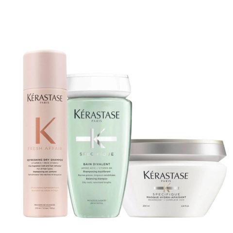 Kerastase Fresh Affair + Divalent Set para pieles ponderadas sensibilizadas