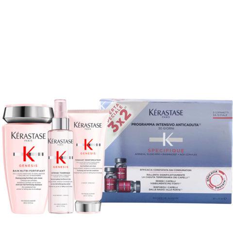 Kerastase Genesis Ritual De Hidratación Y Protección Suave + Kerastase Specifique Cure anti chute intensive 30x6ml