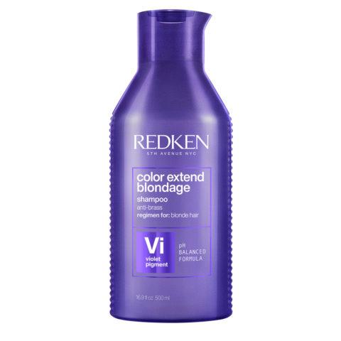 Redken Color Extend Blondage Shampoo Formato especial 500ml - champú anti-amarillo