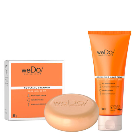 weDo No Plastic Champú sólido 80gr + weDo Nourishing Night Cream 90ml