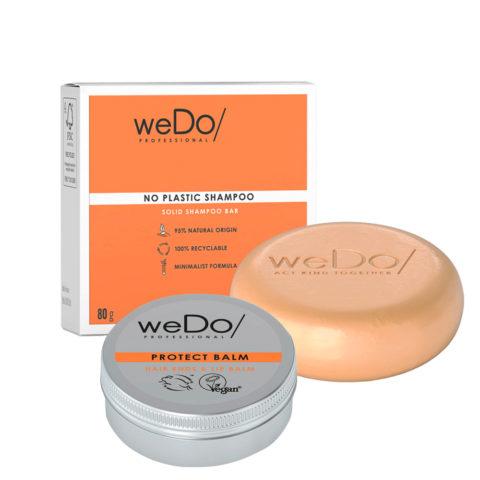weDo No Plastic Champú Sólido 80gr + Protect Balm 25gr