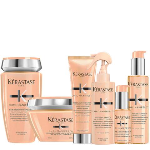 Kerastase Curl Manifesto Kit Shampoo 250ml Masque 200ml Crème 150ml Spray 190ml Huile 50ml Gelée Curl150ml