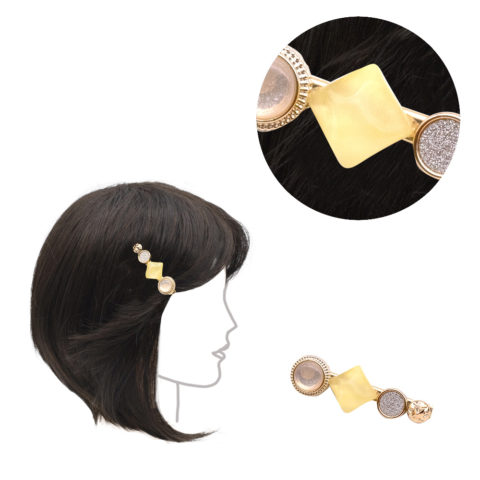 VIAHERMADA Pinza para la ropa con piedra amarilla 6cm
