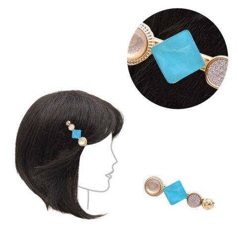 VIAHERMADA Pinza para la ropa con piedra azul claro intenso 6cm