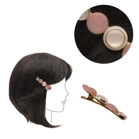 VIAHERMADA Pinza para la ropa de metal con adornos rosas 6cm