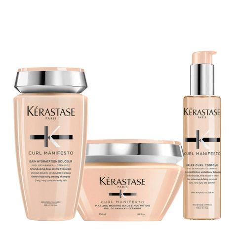 Kerastase Curl Manifesto Kit Shampoo 250ml Masque 200ml +Gelée Curl Révélation 150ml