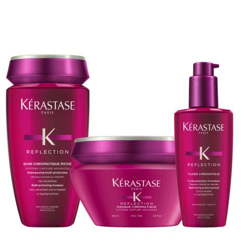Kerastase Reflection Kit Bain Chromatique Riche 250ml Masque 200ml Fluide 125ml