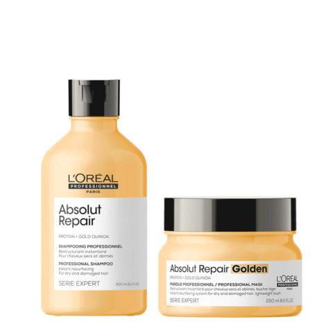 L'Oréal Professionnel Paris Serie Expert Absolut Repair Kit Shampoo 300ml Máscara Argilla 250ml