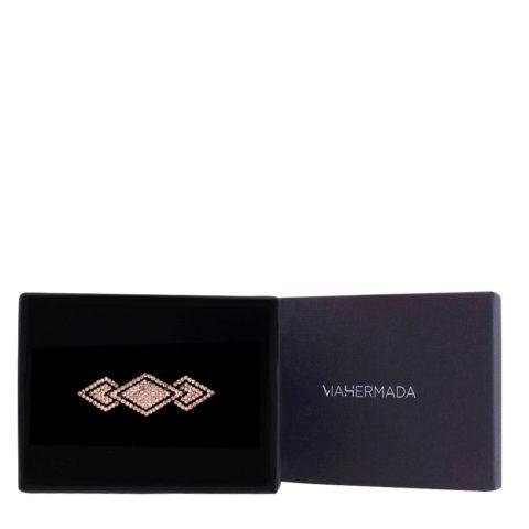 VIAHERMADA Pinza para el pelo Matic con diamantes de imitación ámbar