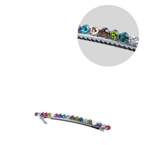 VIAHERMADA Pinza de pelo Matic con cristales multicolores