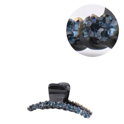 VIAHERMADA Pinzas para el cabello con cristales oblicuos azules