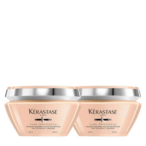 Kerastase Curl Manifesto Masque Beurre Nourrissant 200ml Pack X2