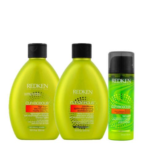 Redken Curvaceous Kit Shampoo 300ml Conditioner 250ml Full Swirl Gel 150ml