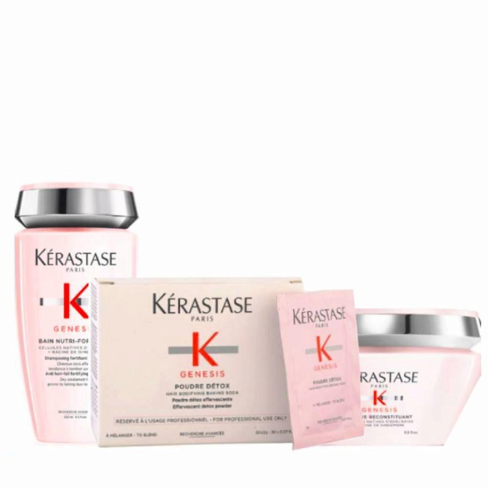 Kerastase Genesis Kit Champù 250ml Polvo Para Mezclar 2grx30 Mascara 200ml