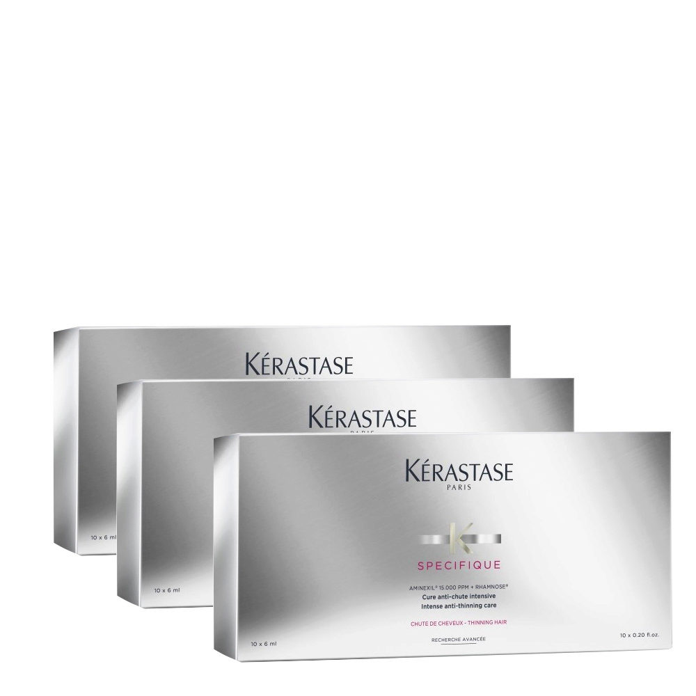 Kerastase Specifique Cure anti chute intensive 10x6ml x 3 cajas - tratamiento intensivo anticaída