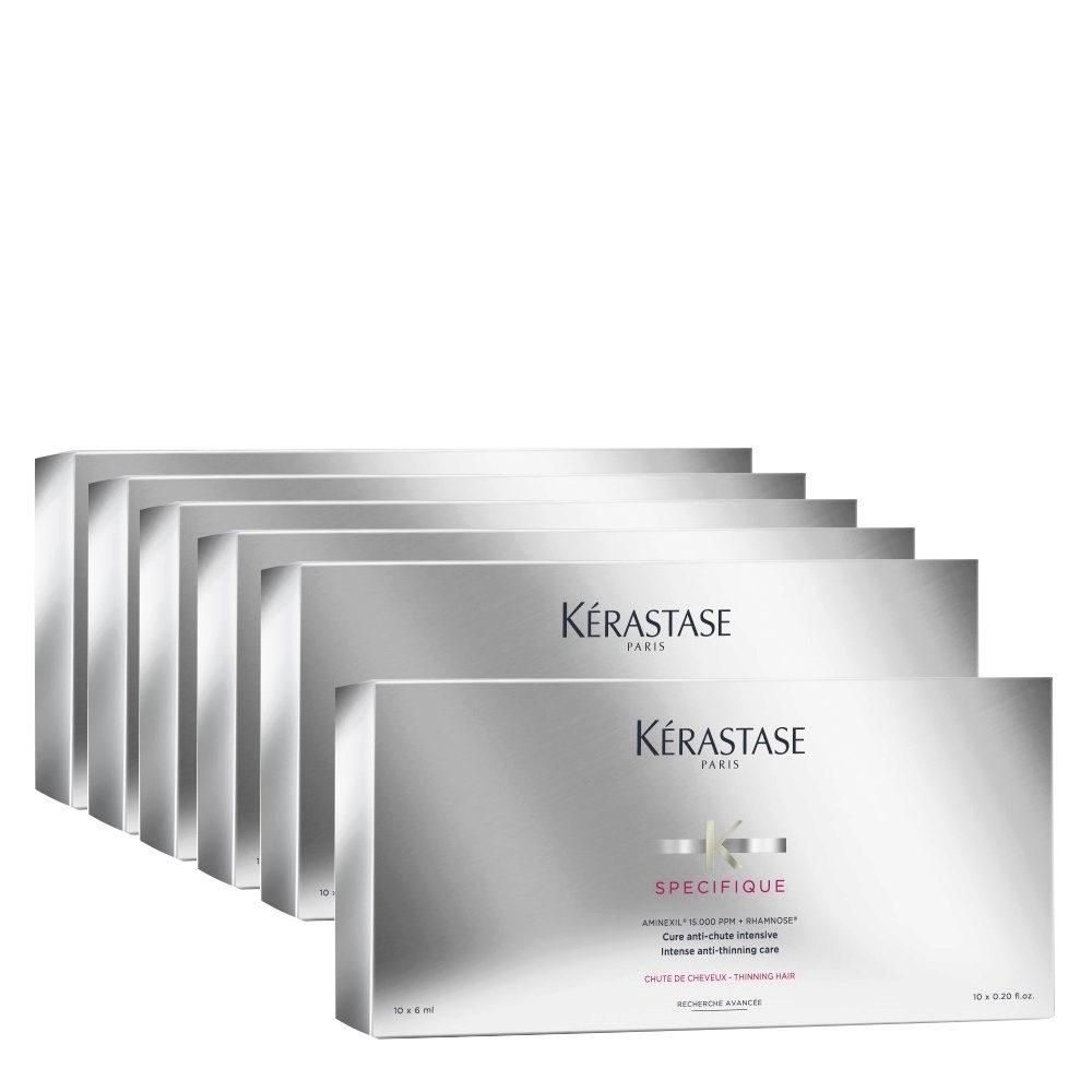 Kerastase Specifique Cure anti chute intensive 10x6ml  6 cajas - tratamiento intensivo anticaída