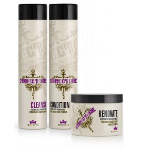 Joico Structure styling Care trio Cleanse 300ml Conditioner 300ml Renovate 150m